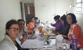 Centro de Geração de Renda- Curso de Pintura em Tecido